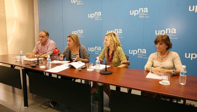 De izda a dcha, Juan Gallego, Paloma Vírseda, Rosa López e Inmaculada Rández