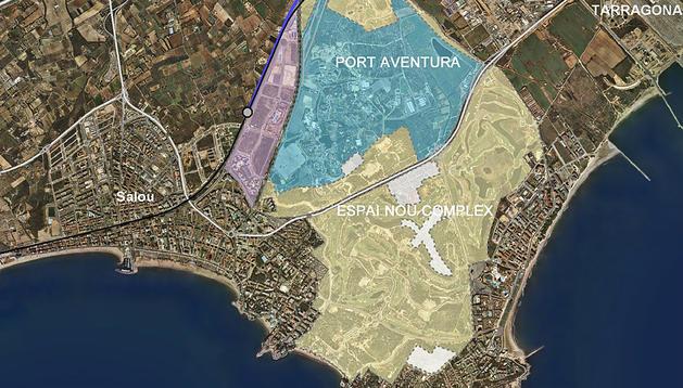 Área donde se ubicará el proyecto Barcelona World.