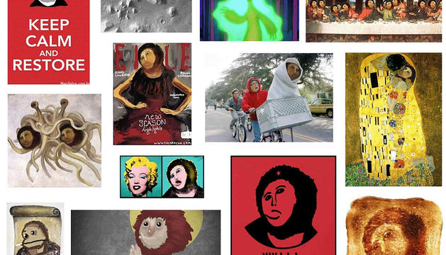 Montaje de la página web del proyecto colaborativo Wallpeople con las distintas versiones del eccehomo de Borja.