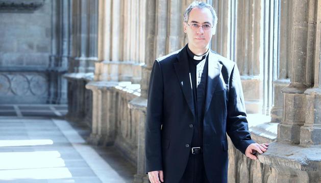 El nuevo Obispo Auxiliar, Juan Antonio Aznárez.
