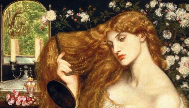 Fotografía cedida por Tate Britain del cuadro 'Lady Lilith' del pintor británico Dante Gabriel Rossetti