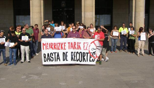 Concentración de este martes por la mañana en Tafalla contra los recortes en el sector público