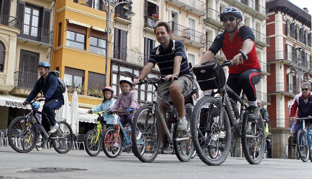 Bicicletas en la semana de la movilidad del año pasado