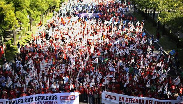 Protesta social contra los ajustes en Madrid