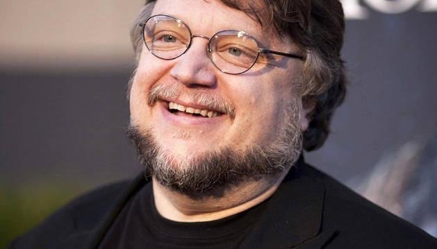El cineasta mexicano Guillermo del Toro a su llegada a los Universal Studios Hollywood donde recibió el premio Eyegore por su aportación al género del cine de terror a lo largo de su carrera.