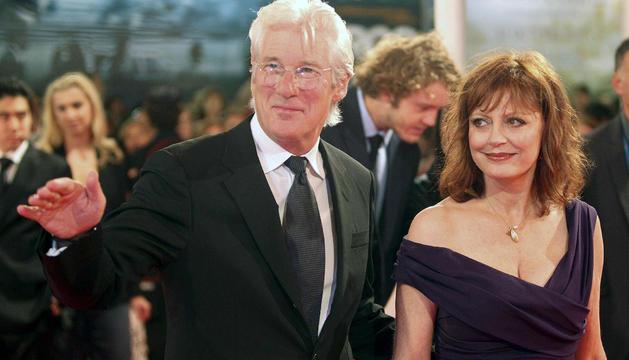 Los actores estadounidense Richard Gere y Susan Sarandon