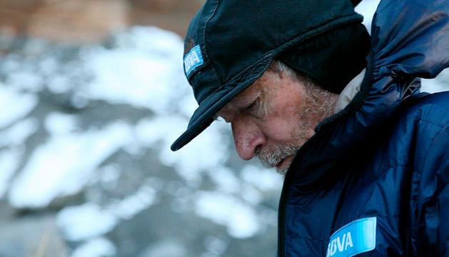 Carlos Soria, en la expedición al Dhaulagiri.