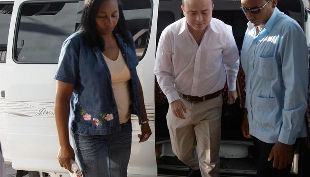 Carromero, a su llegada al tribunal en La Habana. AFP