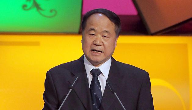 Fotografía de archivo del escritor chino Mo Yan durante la Feria del Libro de Fráncfort.
