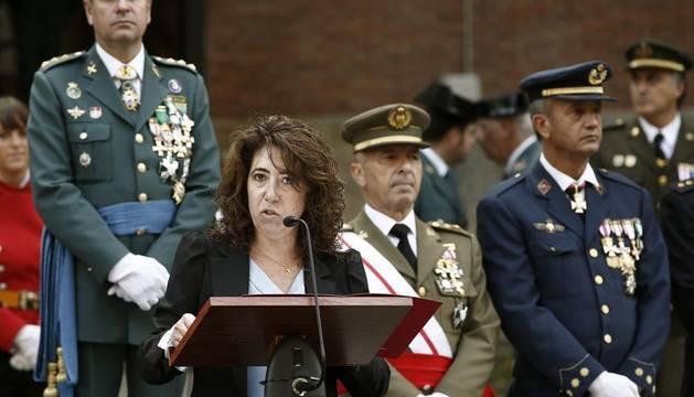 La delegada del Gobierno en Navarra, Carmen Alba, que hoy ha presidido los actos de la fiesta de la Guardia Civil en Pamplona,