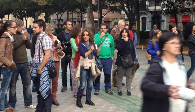 Ante el Parlamento de Navarra, este sábado
