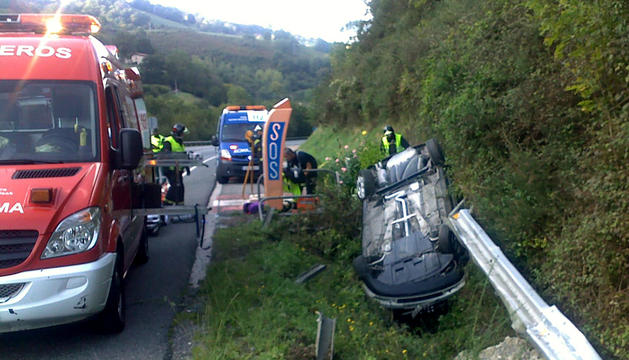 El accidente de Almandoz, este sábado
