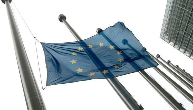 La bandera de la UE, en Bruselas