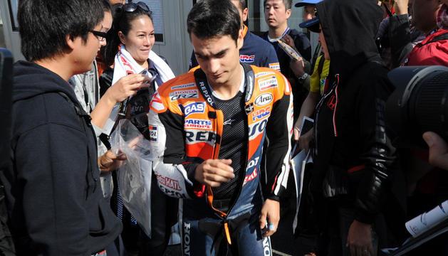 El piloto español Dani Pedrosa, al terminar la carrera.