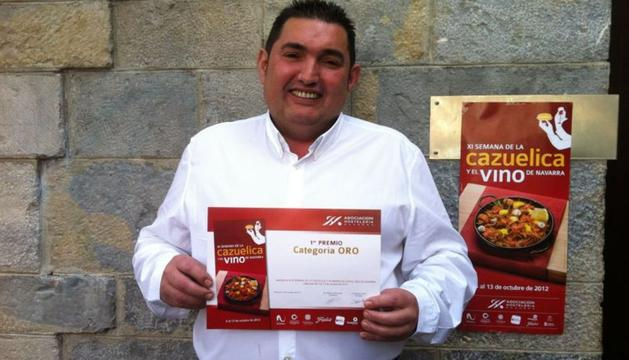Pedro Amatria San Martín, ganador de la XI Semana de la Cazuelica y el Vino de Navarra