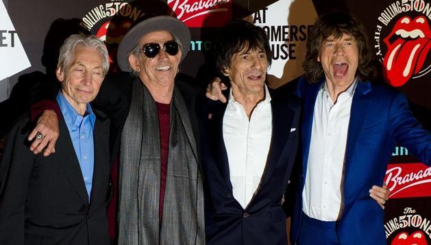 Los Rolling Stones en julio de 2012.