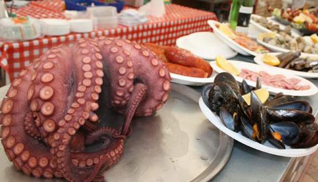 Últimos días para poder degustar el marisco gallego en Pamplona