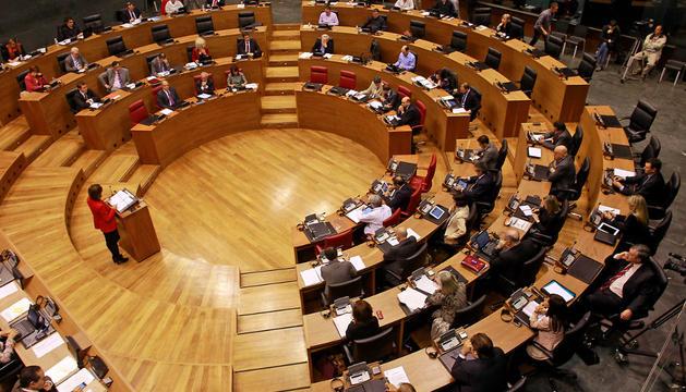 Durante el debate, este jueves, en el Parlamento