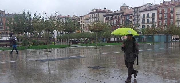 Navarra está en alerta roja por lluvias y en muchos puntos de la comunidad no ha dejado de llover en todo el día.