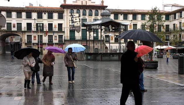 Resaca del temporal de lluvia en Navarra