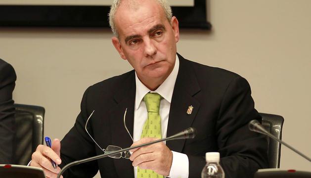 Jesús Pejenaute, en el Parlamento el pasado 2 de octubre