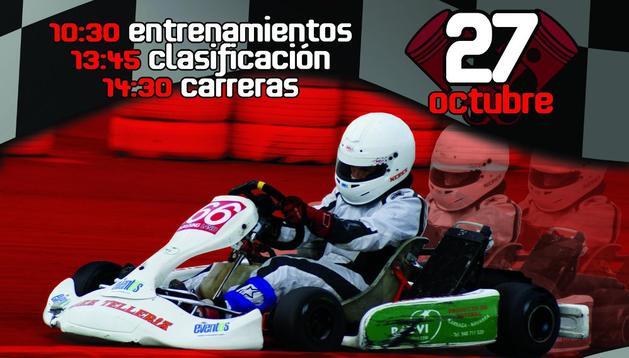 Cartel del Open Navarro de Karting