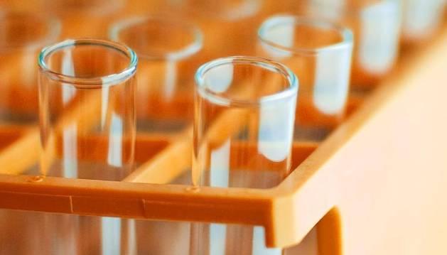 Probetas de un laboratorio