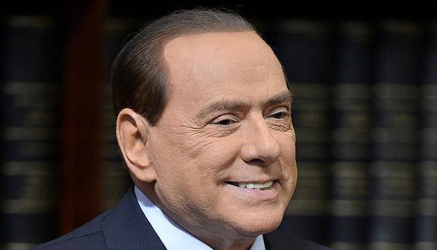 Imagen de archivo del exprimer ministro italiano Silvio Berlusconi durante una conferencia de prensa en ayo de 2012.