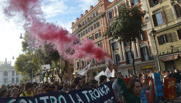 Manifestación contra Monti, este sábado, en Roma