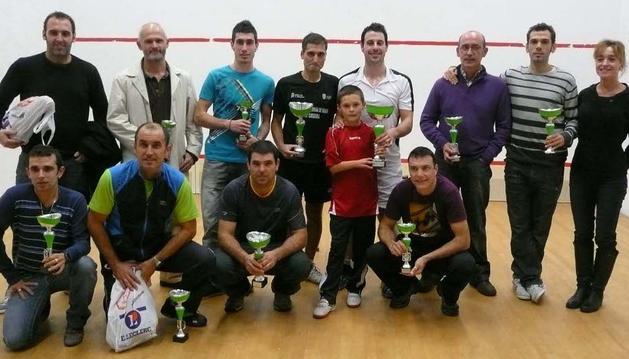Imagen de los premiados en el torneo