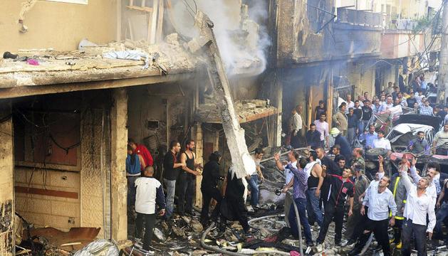 Tras la explosión de un coche bomba al sur de Damasco