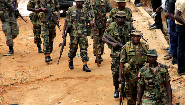 La milicia nigeriana