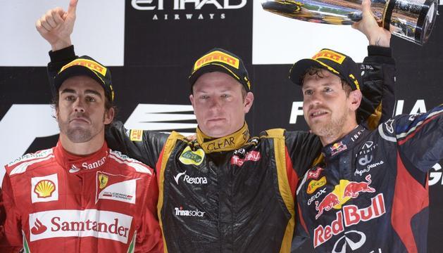 Alonso, Raikkonen y Vettel