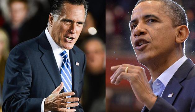 Romney y Obama.