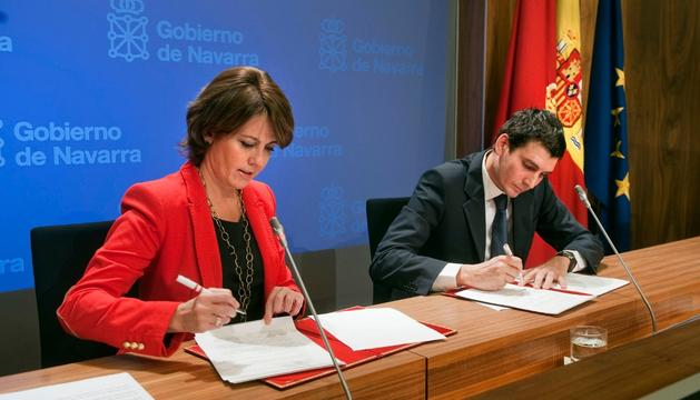 Barcina y Miguel Sola