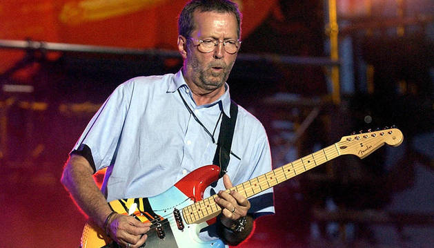 Eric Clapton, durante un concierto