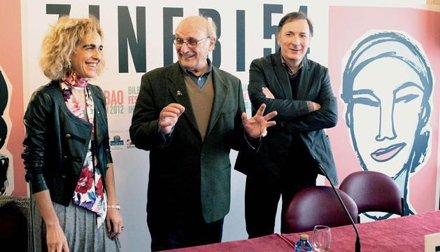 El cineasta Carlos Saura,  en la presentación del primer