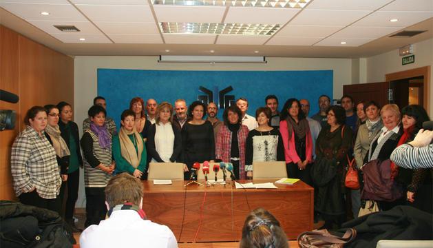 Los alcaldes de Tafalla y Villava han leído el manifiesto
