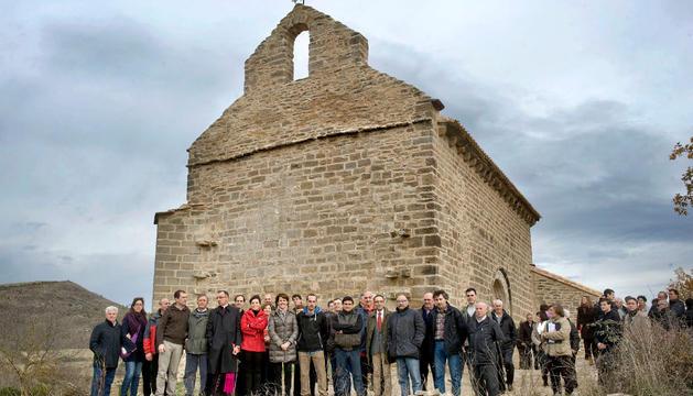 En la inauguración de la ermita