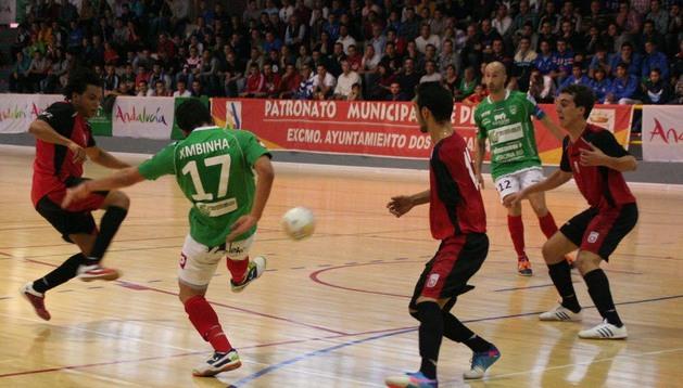 Ximbinha y Eseverri, en un partido anterior