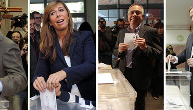 Mas, Sánchez-Camacho, Navarro y Junqueras.