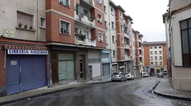 Calle Remigio Múgica, en la Milagrosa, barrio que aglutina la mayoría de los piperos que hay en Pamplona