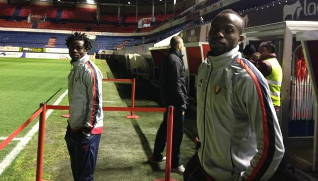 Annan y Lamah, que ya se encuentran en el estadio junto a sus compañeros, serán titulares este martes ante el Sporting