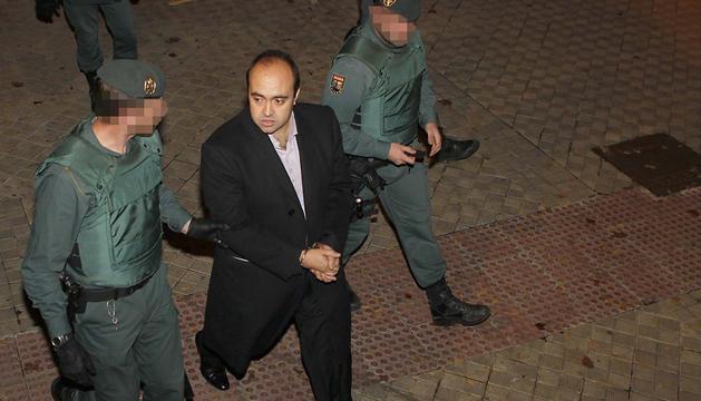 Iñaki Gil San Sebastián, arrestado por la Guardia Civil. J.A. GOÑI