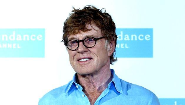 El actor Robert Redford en Madrid donde se encuentra de visita para impulsar el Sundance Channel