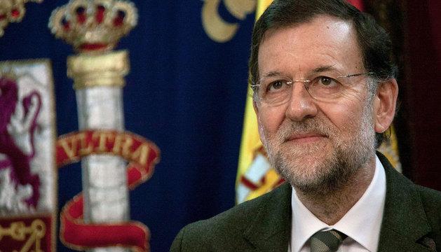 Rajoy, durante su discurso a las tropas en el exterior.
