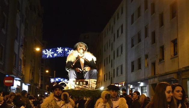 Olentzero llega a Pamplona