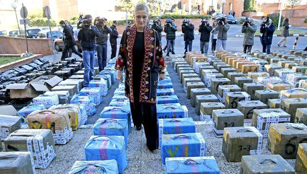 La Policía española detuvo a 35 personas y se incautó de más de 11 toneladas de hachís