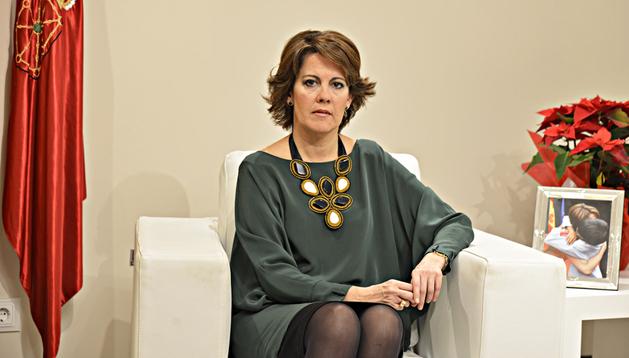 La presidenta, Yolanda Barcina, durante el discurso navideño de 2012