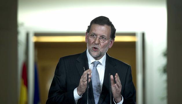 Mariano Rajoy, durante la rueda de prensa que ha ofrecido tras presidir la última reunión del Consejo de Ministros de 2012.